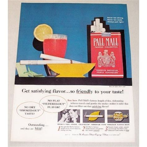 pall mall colors 1960 pall mall cigarettes retro color tobacco print ad