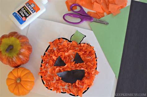 O Lantern Paper Craft - tissue paper o lantern preschool craft a crafty