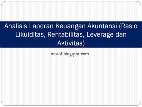 Analisis Laporan Keuangan Hery february 2014 akuntansi dan ms office
