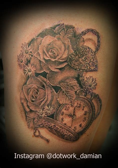 rose dotwork tattoo damian foreman certified artist