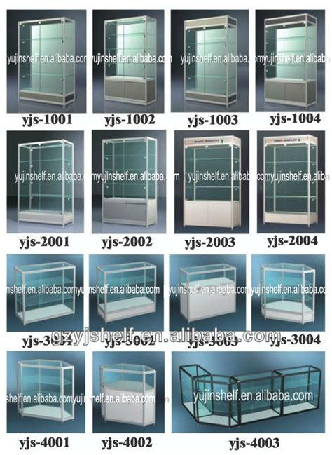 Rak Pajangan Kosmetik titanium sudut kaca lemari pajangan dinding mount kaca