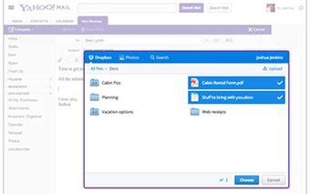 dropbox yahoo dropbox crea alianzas y se une al correo de yahoo