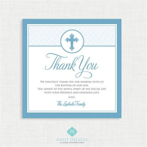 baptism thank you card template free printable baptism thank you card diy printable thank you