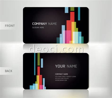 name card design template ai free vector black background personalized business card