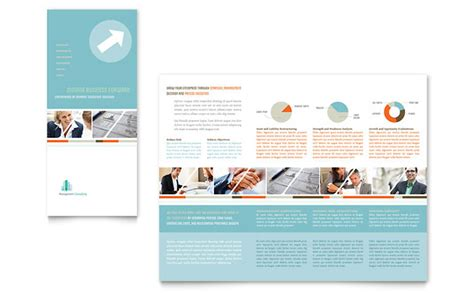 Management Consulting Tri Fold Brochure Template Design Consulting Brochure Template