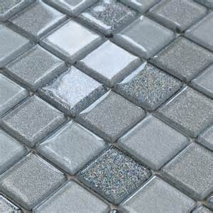 Bathroom Stickers For Walls gray crystal glass mosaic tiles design kitchen bathroom