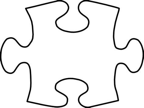 white puzzle piece large clip art  clkercom vector