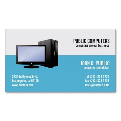 Card Templates On Computer by 17 Best Images About Computer Theme Business Card