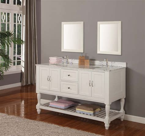 """70"""" Mission Style Double Bathroom Vanity Sink Console with"""