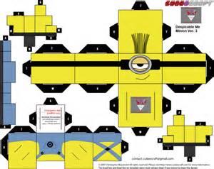 minion template minion papercraft template newhairstylesformen2014