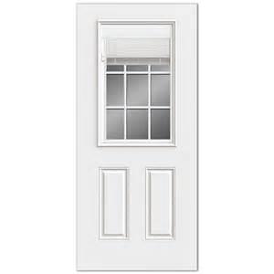 Exterior Door Blinds Reliabilt Reliabilt 2 Panel Mini Blinds Between Glass Steel Entry Door Common 36 In X 80 In