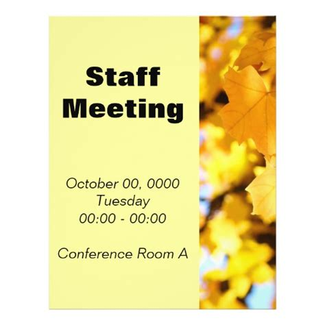 Staff Meeting Flyer Template