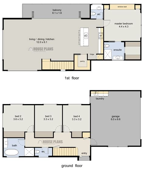 Wanaka 4 Bedroom 2 Storey House Plans New Zealand Ltd House Floor Plans For 2
