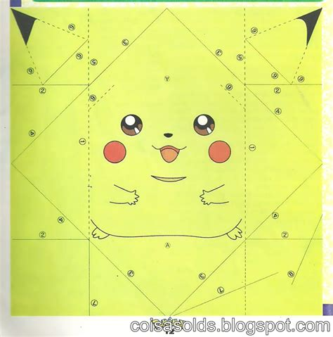 Beginner Papercraft - origami pikachu diy crafts pikachu