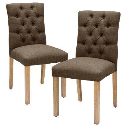 threshold brookline tufted dining chair set   target