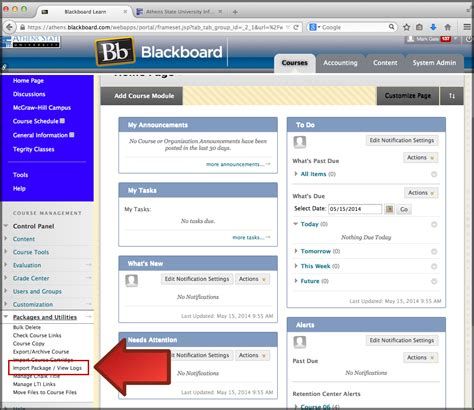 blackboard learn importing an archive transferring
