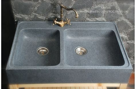 900mm Genuine Granite Stone Farmhouse Kitchen Sink Karma Granite Kitchen Sinks Uk