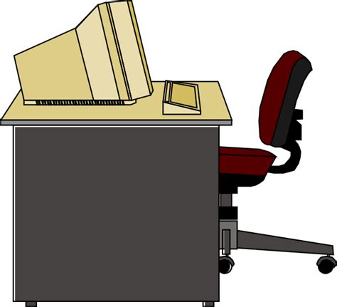 Computer Desk Clipart with Computer Desk Clip At Clker Vector Clip Royalty Free Domain
