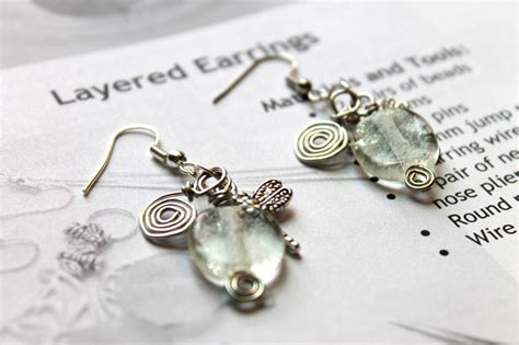 jewelry tutorials for beginners wire wrapping for beginners day 4 layered earrings