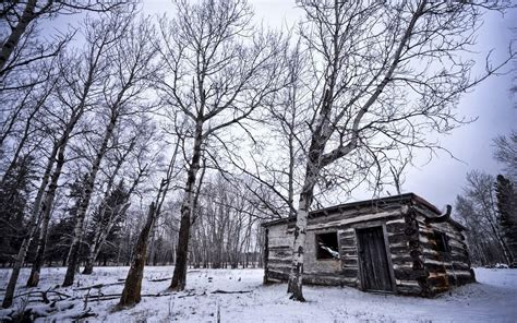 Cabin In Snow by Snow Cabin Wallpaper
