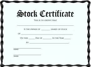 corporate stock certificate template corporation stock certificate blank certificates