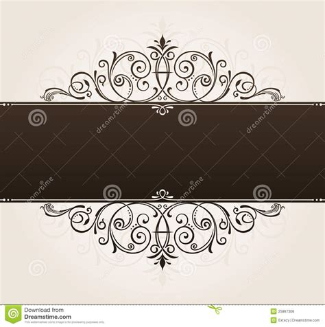Vector Template For Text Background Vintage Frame Stock Vector Image 25867306 Text Template