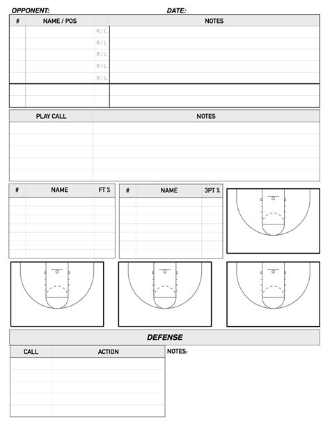 bench scouting sheet basketball pinterest bench