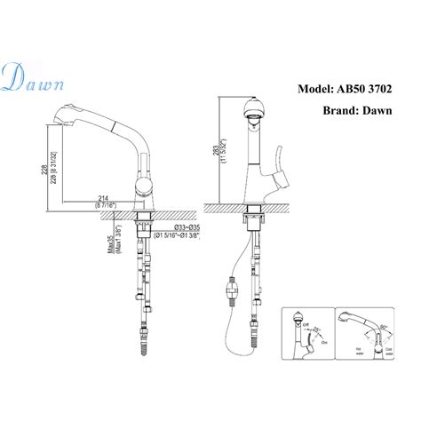 dawn ab50 3702bn single lever pull out spray kitchen ab50 3702bn single lever pull out spray kitchen faucet