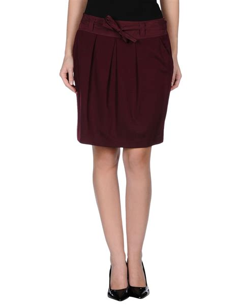 nvl knee length skirt in purple lyst