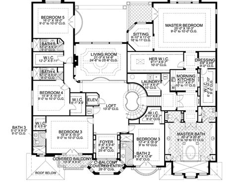 7 bedroom house plans florida style house plans 7883 square foot home 2