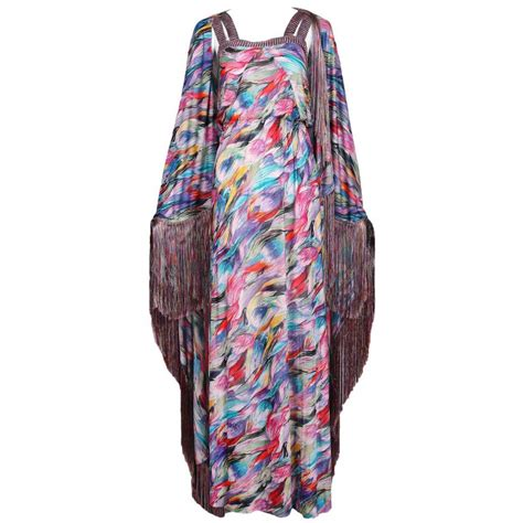 Maxi 25 Pasmina 1 Missoni Multi Colored Abstract Print Maxi Dress And Shawl