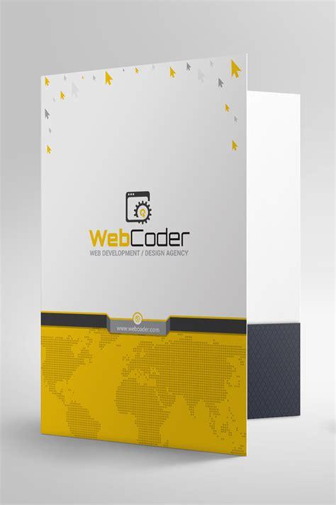 Presentation Folder File Holder Corporate Identity Template 66915 Folder Design Template