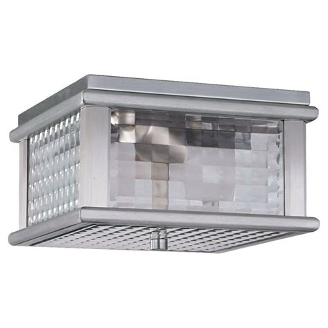 Lodge Ceiling Lights Feiss Mission Lodge 2 Light Brushed Aluminum Outdoor Ceiling Fixture Ol3413bral The Home Depot