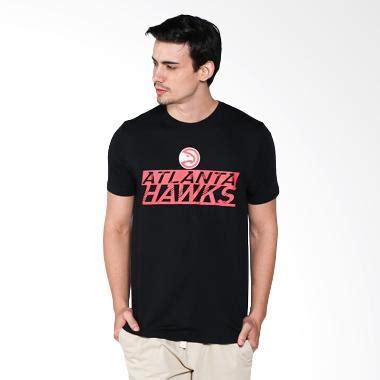 Kaos Atlanta Hawks Logo jual levelwear nba atlanta hawks hitam kaos basket pria