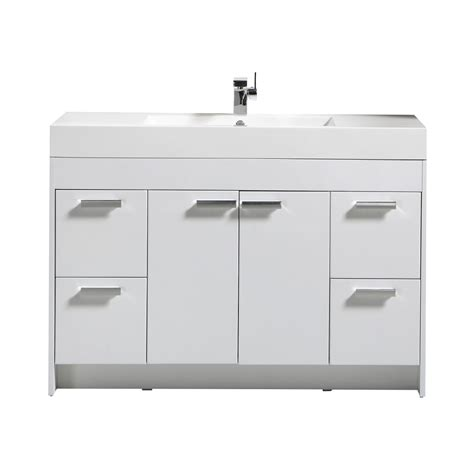White Bathroom Vanity by Iva Lugano 48 Quot White Modern Bathroom Vanity With White