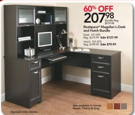 realspace magellan l desk and hutch office depot and officemax black friday realspace