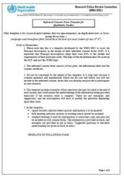 focus consent form template informed consent form template for qualitative studies