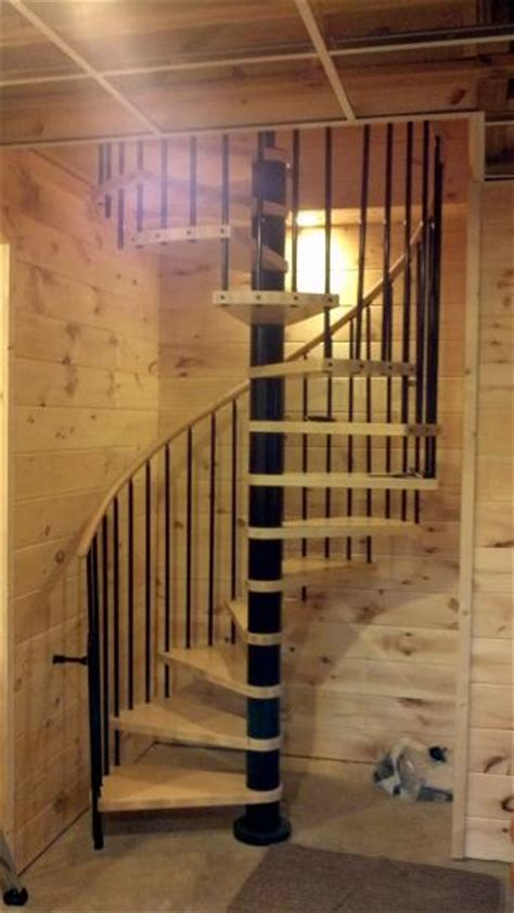moving basement stairs .going through cement wall from