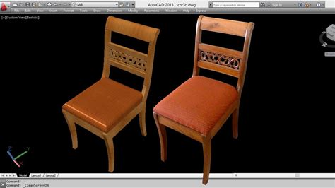 sedia cad autocad 3d chair 3d chair