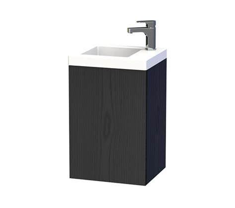 Bathroom Furniture Nyc Miller New York 40 Black Wall Hung Basin Vanity Unit With Door 284v 4