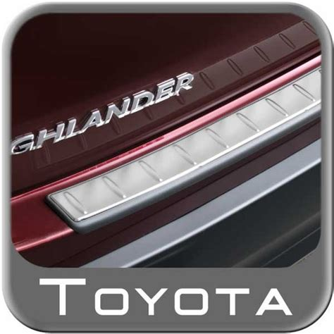 new 2014 2017 toyota highlander rear bumper protector from brandsport auto parts pu060