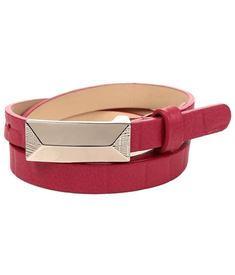pink leather casual belt buy at low price in