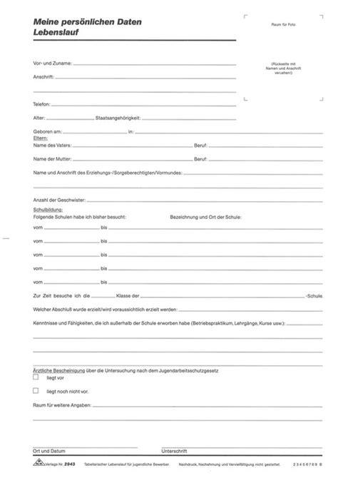 Artikel Fur Lebenslauf Rnk Lebenslauf F 252 R Jugendliche Din A4 Papersmart