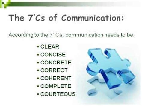 The Of Communicating communication skill 7 cs of communication