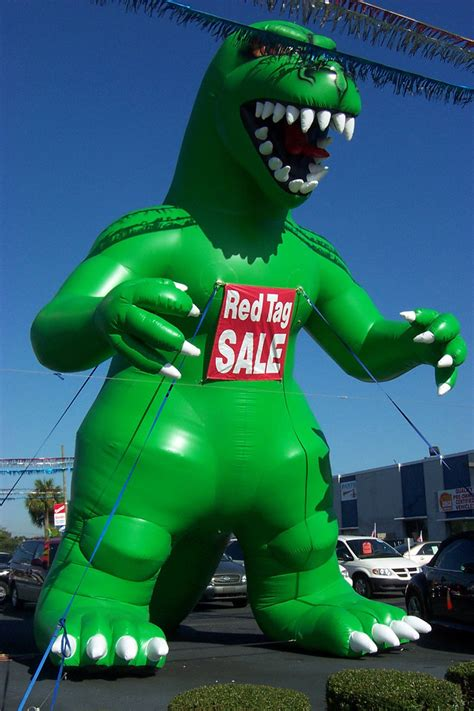 Home Design Store Tampa by Giant Godzilla Balloon