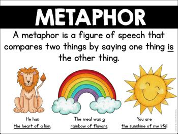 Pdf Metaphors In The Book Kick by Similes And Metaphors By Primary Punch Teachers Pay Teachers