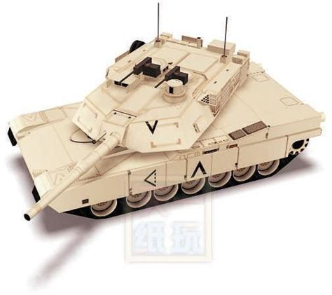 Origami Army Tank - m1a2 tanks weapons 3d paper model diy origami