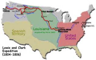 Lewis And Clark Route Map by In The Footsteps Of Lewis Amp Clark Us Population Growth