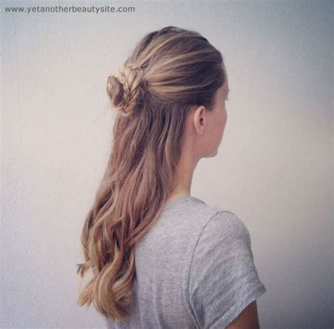 half updo bun hairstyles 20 trendy half braided hairstyles