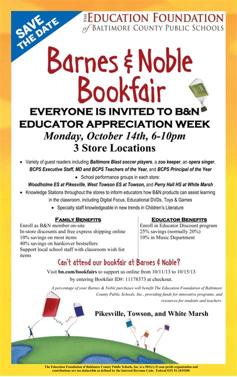 barnes noble to host book the education foundation and barnes noble host book
